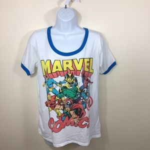 Marvel Top Size Large White Graphic Marvel  A314